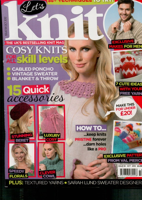 Let's Knit Knitting Magazine Issue 59 October 2012
