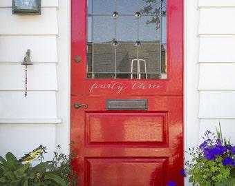 Door Address House Number Vinyl Decal