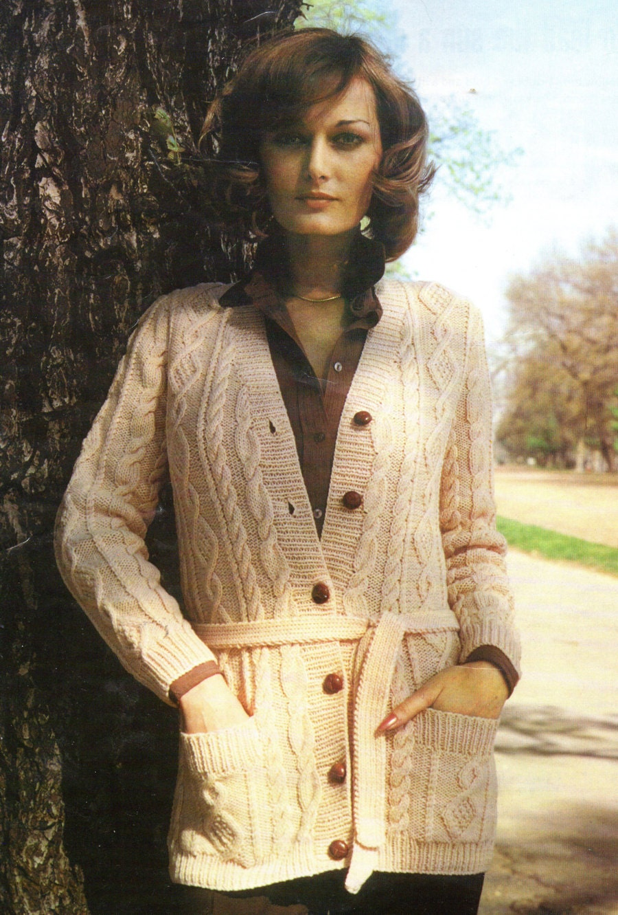 Women s Cardigan Knitting Pattern : Knitting Pattern Aran Sweater Knitting Pattern Womens PLUS