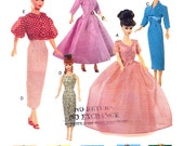 "11 1/2"" Fashion Doll Sewing Pattern Retro Clothes Vogue 7241"