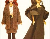 "Circa 1980-1990: 11 1/2"" Fashion Doll Sewing Pattern Retro Clothes Vogue 7243 Shipping to USA INCLUDED"