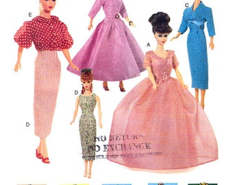 """11 1/2"""" Fashion Doll Sewing Pattern Retro Clothes Vogue 7241"""
