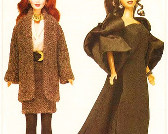 """Circa 1980-1990: 11 1/2"""" Fashion Doll Sewing Pattern Retro Clothes Vogue 7243 Shipping to USA INCLUDED"""