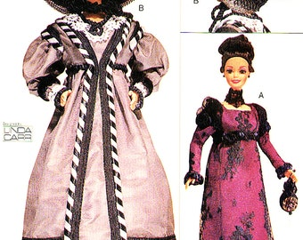 "11 1/2"" Fashion Doll Sewing Pattern Historical 1820-30 ERA Gowns Vogue 7296 7553 719 Shipping to USA INCLUDED"