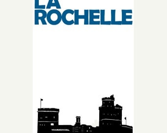 La Rochelle Poster (12x18 / 13x19) France Art Poster