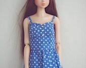 blue dots dress for momoko blythe doll
