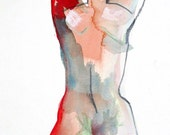 Nude painting- #391 original watercolor painting by Gretchen Kelly