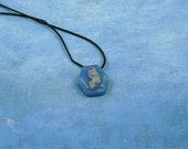 Glowing Alien Fetus Encapsulated Specimen Necklace, Handmade Science Fiction Jewelry