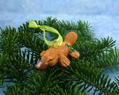 Xmas Platypus Ornament with Tree Tush - Handmade Christmas Decoration