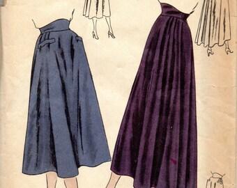 Vogue 6133 1940s Misses Shaped High Waist Circular SKIRT Pattern Flared Womens Vintage Sewing Pattern Waist 24 FF
