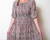 1970s PAISLEY DREAM DRESS, xs - m