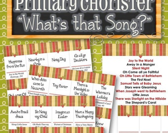 """Primary Chorister """"What's that Song?"""" Game - INSTANT DOWNLOAD"""