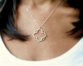 Sterling silver pendant necklace, layering, lotus necklace, clover necklace, mandala, modern jewelry, briguysgirls, Otis b jewelry