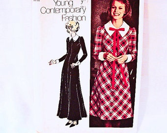 1970s Maxi Dress Pattern Misses size 12 Vintage 70s Simplicity Young Contemporary Fashion Dress Sewing Patterns