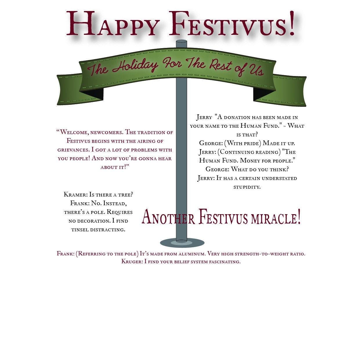 Happy festivus holiday card festivus card humor sarcasm happy festivus holiday card festivus card humor sarcasm seinfeld holidays holiday for the rest of us alternative holiday m4hsunfo