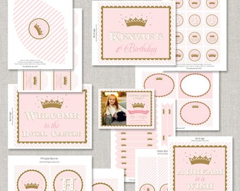 Princess Birthday Party Collection - DIY