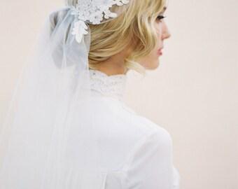 Lace Veil, Juliet Cap Veil, Wedding Veil, Alencon Lace Veil, Juliet Veil, Cap Veil, Bohemian Veil, Vintage Veil, 1920s Bridal Veil, 1514