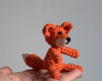 Christmas Crochet fox amigurumi woodland animal baby nursery mobile rabbit wolf bear felted face orange  woodland nursery decoration gift