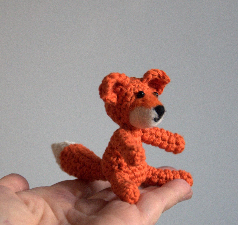 Crochet fox amigurumi woodland animal baby nursery mobile