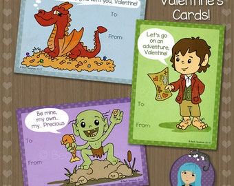 The Hobbit - Lord of the Rings Valentine's Day Card