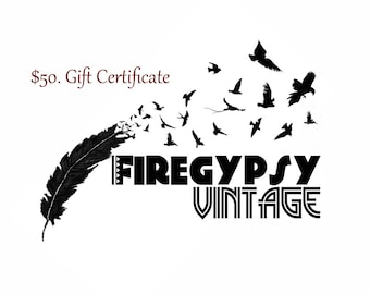 Gift Certificate   50 Dollar Gift Card   Christmas Gift   Email Gift   Birthday   Last Minute Gift