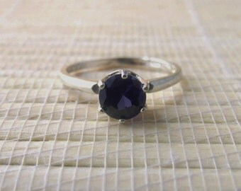 Sapphire Ring Sterling Silver September Birthstone Lab Created Made To Order