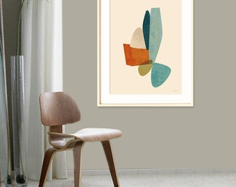 Extra Large Wall Art, Mid Century Modern, Art Giclee, Contemporary Art 16x20, 20x24