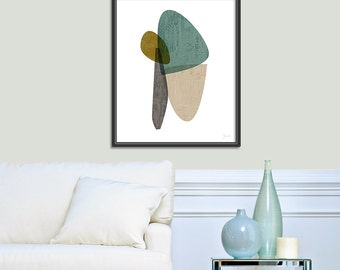 Large Wall Art, Mid Century Modern, Huge Print, Abstract Print, Oversized Art Print