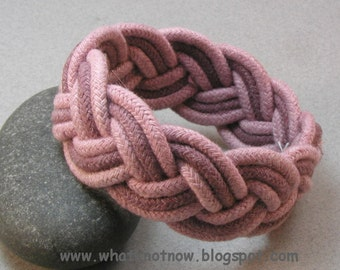 rope bracelet sailor knot bracelet turks head knot bracelet nautical rope work three part bracelet 3515