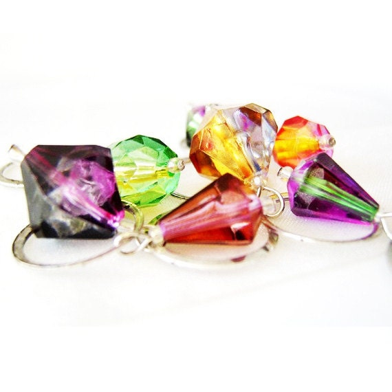 LAST SETS - Gems of Heaven - Six Handmade Stitch Markers -  Fits 10.0 mm (15 US) - Limited Edition