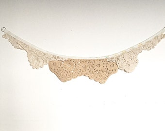 Lace Banner, Nursery Decor, Bridal Shower, Wedding Party, Bridal Party, Baby Shower