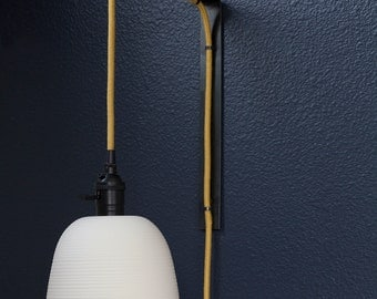 Ribbed Pendant Sconce