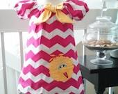 Big Bird Dress, Elmo Dress, Sesame Street Dress, Big Bird Outfit, Baby Dress, Elmo Birthday Dress, Fully Lined Dress, Made to Order 12M-3T