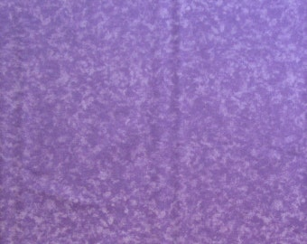 Purple Sponged-Look Quilter's Weight Fabric - Cotton Print Fabric - One Yard - Yardage - Fabric by the Yard