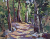 Original Oil Forest Scene by Marty Husted
