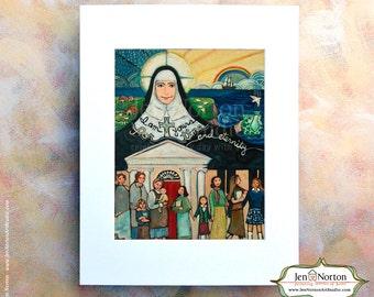 Sisters of Mercy Founder Catherine McAuley Art Print, Time and Eternity, Irish nun