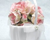 Porcelain Stephanoitis Bouquet Wedding Flowergirl Basket - 80725S