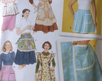 Simplicity 4282 Misses Apron Pattern Sizes Small to Large,Retro apron pattern