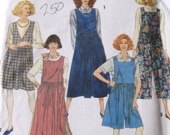 Culottes Jumper Pattern,Simplicity 7948 MIsses Jumpers with Bodice and Skirt Variations, Culottes Style