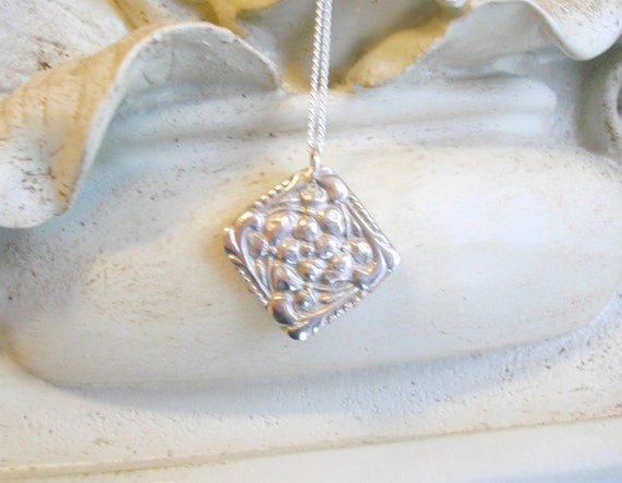 Petite Periwinkle Pendant - Fine Silver - Ready to Ship
