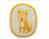 Personalized Custom Dog Portrait -  Dog Brooch, hand embroidered textile art jewelry