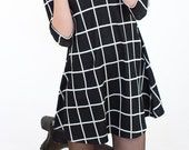 Black and White boxes mini dress