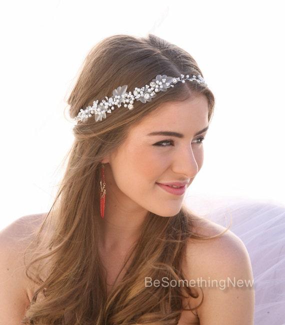 Pearl and Rhinestone Wedding Hair Vine Bridal Hair
