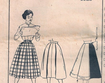 Vintage Butterick Pattern 6928 - 1950s Mad Men Style Skirt - Unused - No Jacket