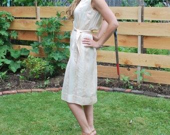 Vintage 60's Classy Asian Style Silk Dress