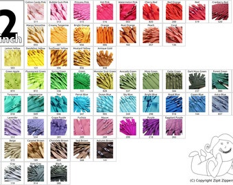50 Piece 22 Inch YKK Zippers Your choice of Colors Mix and Match Zips