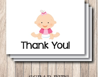 Baby Thank You Note Card Set