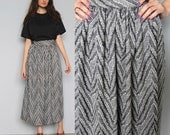 the great unknown -- vintage zig zag knit skirt XS