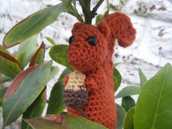 Amigurumi Easy Crochet Patterns : Squirrel pattern amigurumi crochet squirrel easy crochet