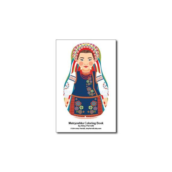 Matryoshkas (E) Mini Coloring Book Printable file